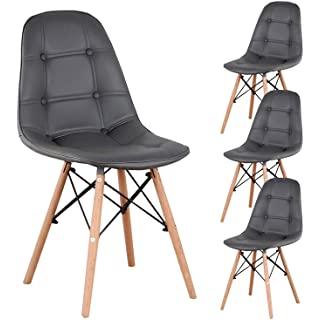 silla estilo industrial tapizada para comedor 06