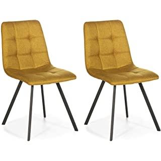 silla estilo industrial tapizada para comedor 07