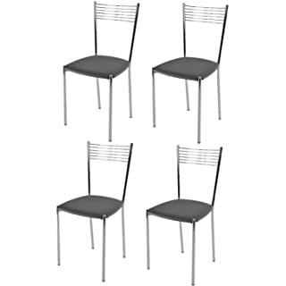 silla estilo industrial tapizada para cocina 08