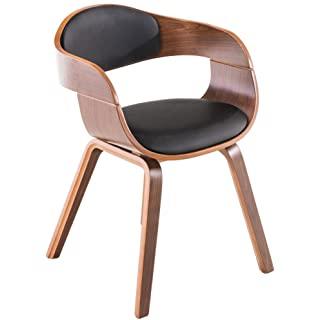 silla estilo industrial de madera tapizada 01