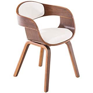 silla estilo industrial de madera tapizada 02