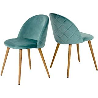 silla estilo industrial de madera tapizada 05