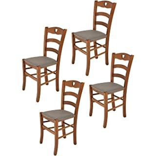 silla estilo industrial de madera tapizada 06