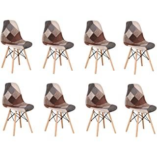 silla estilo industrial de madera tapizada 10