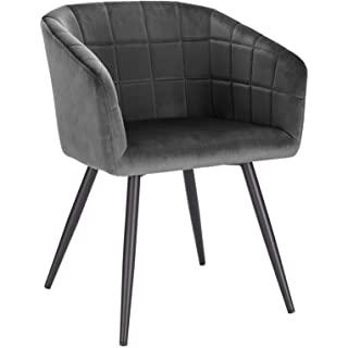 silla estilo industrial de metal  tapizada 01