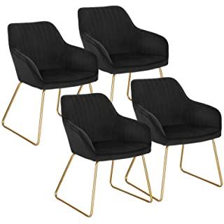 silla estilo industrial de metal  tapizada 02