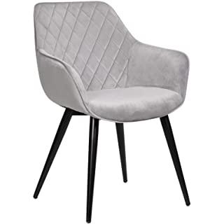 silla estilo industrial de metal  tapizada 06