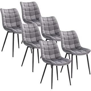 silla estilo industrial de metal  tapizada 07