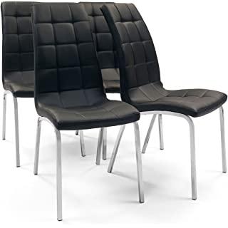 silla estilo industrial de metal  tapizada 10