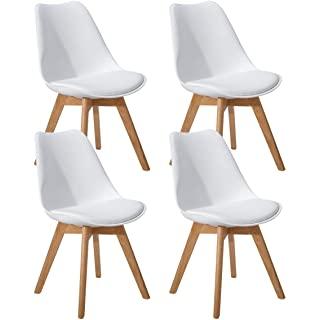 silla estilo industrial tapizada blanca 01