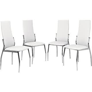 silla estilo industrial tapizada blanca 05