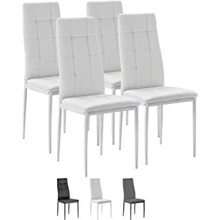 silla estilo industrial tapizada blanca 08