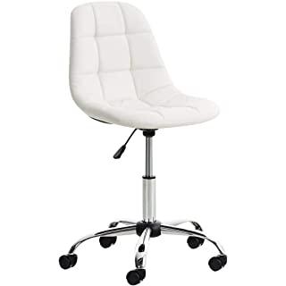 silla estilo industrial tapizada blanca 10