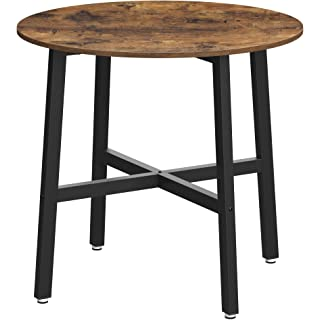 mesa redonda estilo industrial para salon comedor 01