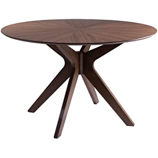mesa redonda estilo industrial para salon comedor 05