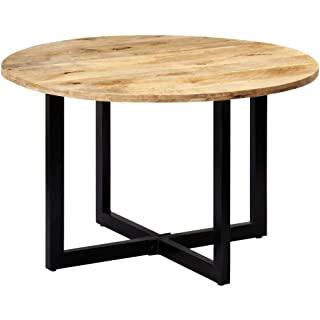 mesa redonda estilo industrial para salon comedor 02
