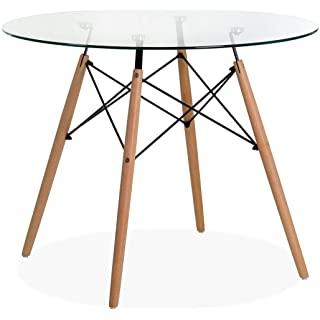 mesa redonda estilo industrial para cocina 01