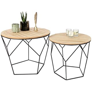 mesa de centro redonda estilo industrial 01
