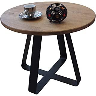 mesa de centro redonda estilo industrial 07
