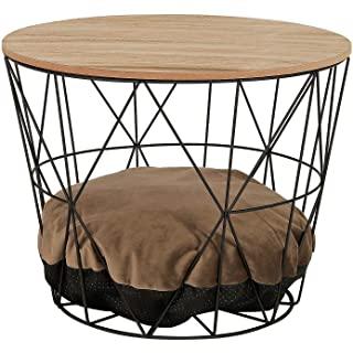 mesa de noche redonda estilo industrial 06