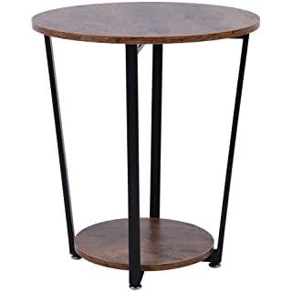 mesa de noche redonda estilo industrial 10