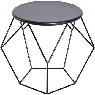 mesa de noche redonda estilo industrial 08