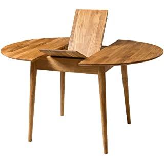 mesa redonda estilo industrial extensible 03