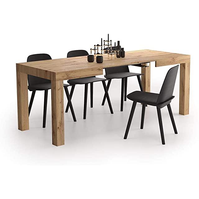 mesa de comedor estilo industrial extensible