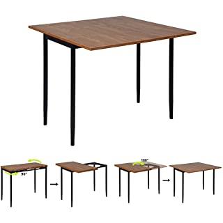 mesa de comedor estilo industrial extensible 06