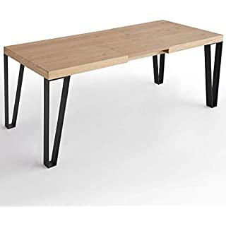 mesa de comedor estilo industrial extensible 10