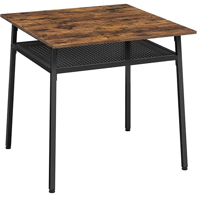 mesa de comedor estilo industrial cuadrada