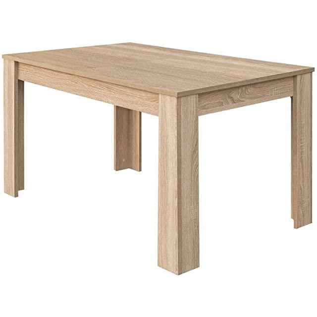 mesa de comedor estilo industrial de madera