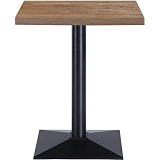 mesa de comedor industrial cuadrada 10