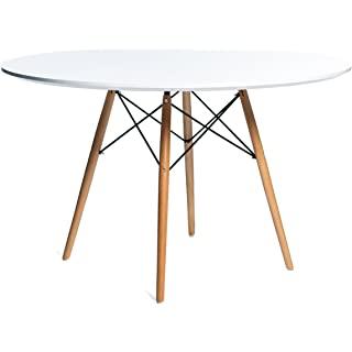 mesa de comedor industrial blanca 04