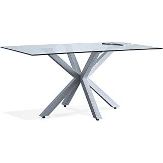mesa de comedor industrial blanca 06