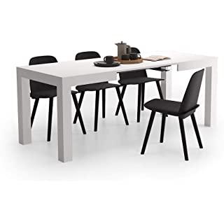 mesa de comedor industrial blanca 08
