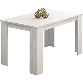 mesa de comedor industrial blanca 10