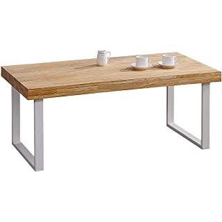 mesa de comedor industrial blanca 09