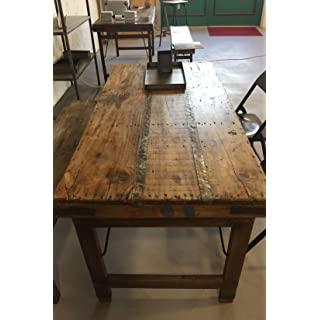 mesa de comedor industrial vintage 06