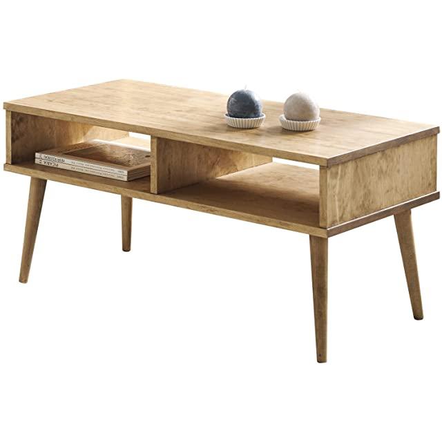 mesa de madera industrial vintage