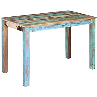 mesa de madera industrial vintage 07