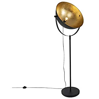 lampara de pie industrial negra 02