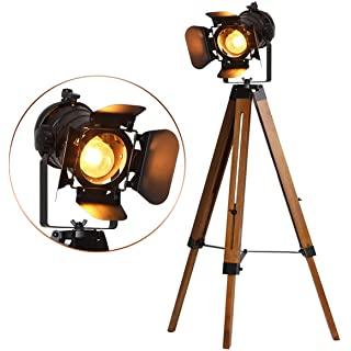 lampara de pie industrial negra 10