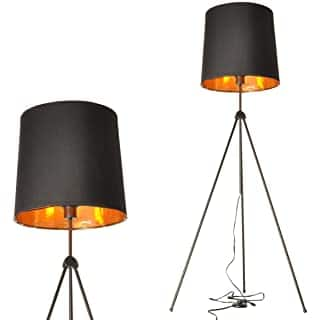 lampara de pie industrial negra 08