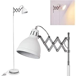 lampara de pie industrial blanca 02