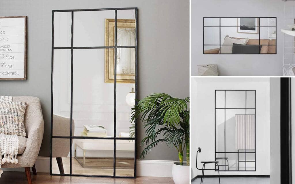 espejo tipo industrial rectangular