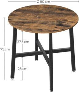 medidas mesa redonda industrial