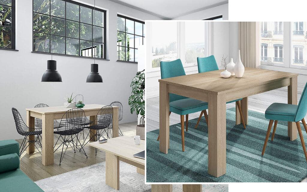 mesa comedor estilo industrial madera