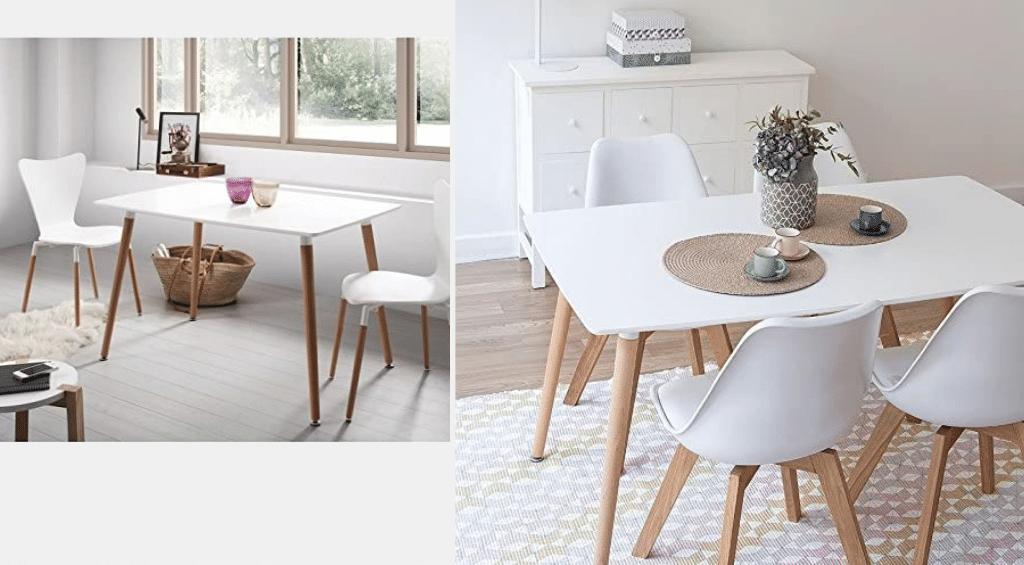 mesa de comedor estilo industrial nórdica