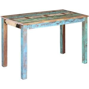 mesa de madera industrial reciclada